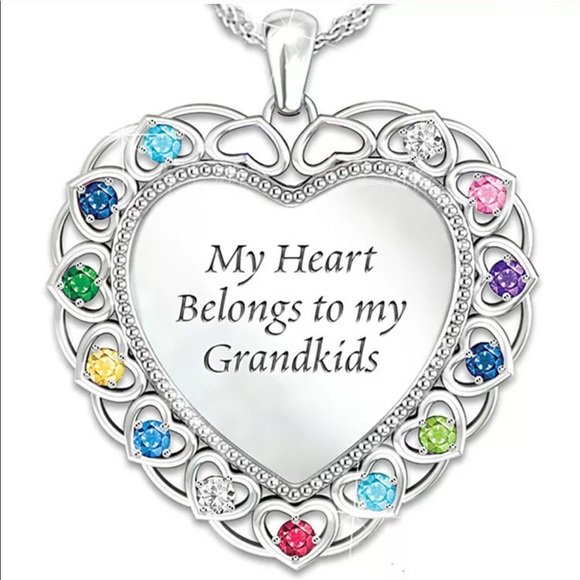 Jewelry - 18k White Gold Filled Heart Necklace